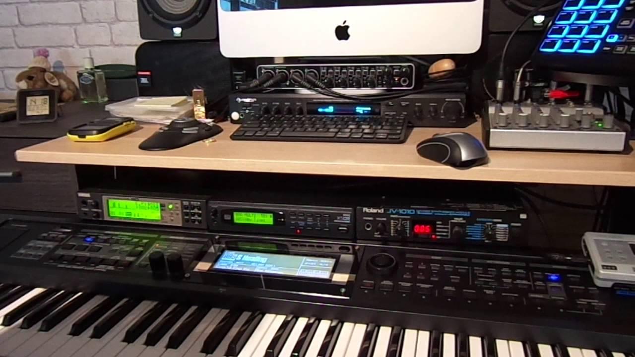 Yamaha mu50 korg x5dr roland jv 1010 youtube for Korg yamaha roland