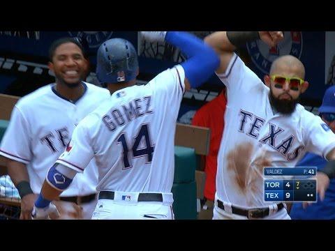 6/22/17: Gomez hits two home runs in 11-4 win