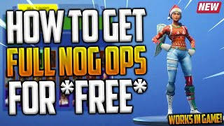 *FREE* HOW TO GET NOG OPS SKIN FOR FREE! IN FORTNITE BATTLE ROYALE! (CHRISTMAS SKIN FOR FREE)