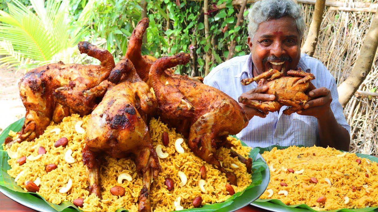 ARABIAN FULL CHICKEN MANDI BIRYANI   Arabian Style Chicken Biryani Recipe   Farmer Cooking