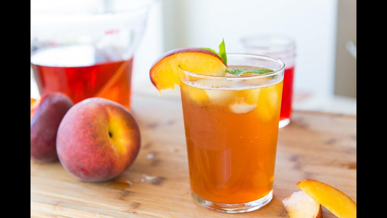 homemade sparkling peach iced tea nonalcholic drink miniseries