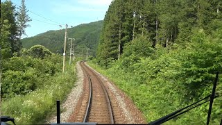 "4K cab view - Wide View Express Train ""Hida"" Takayama to Osaka, Japan"