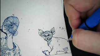 Cat #InternationalCatDay :#KInArt