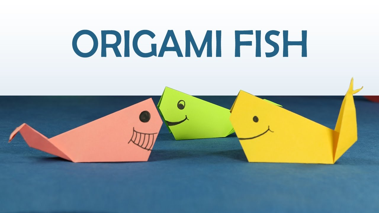 Kids Craft Easy Origami For DIY Fish Step By