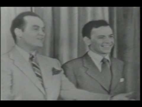 Frank Sinatra & Bob Hope 1950 - Frank's 1st TV appearance