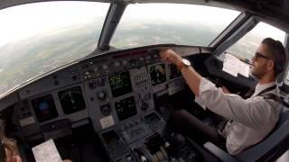 Krakow, EPKK cockpit view landing 25