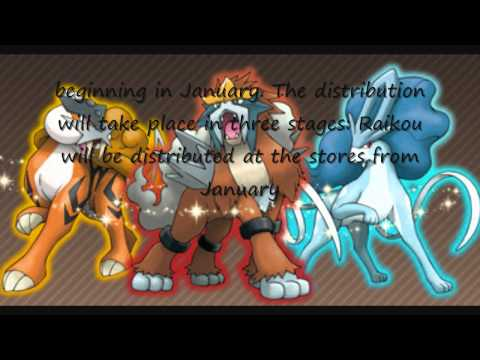 Pokemon Heart Gold And Soul Silver Shiny Entei, Suicune, And Raikou Event!