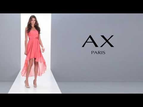 24studio - Jewel Drop Back Chiffon Dress By AX Paris