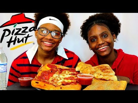 OUT OF SCHOOL PIZZA PARTY MUKBANG! FT: PIZZA HUT