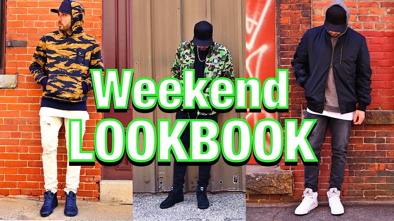 2787c3001fb236 OUTFITS OF THE WEEKND! - BAPE X PUMA - AIR JORDAN 5 - VANS SK8 HI ZIP -  DISTRESSED DENIM - Lookbook
