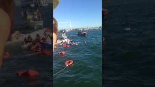 Capsized Sail Boat Khaleesi during Fleet Week near Pier 45 San Francisco 10/8/16