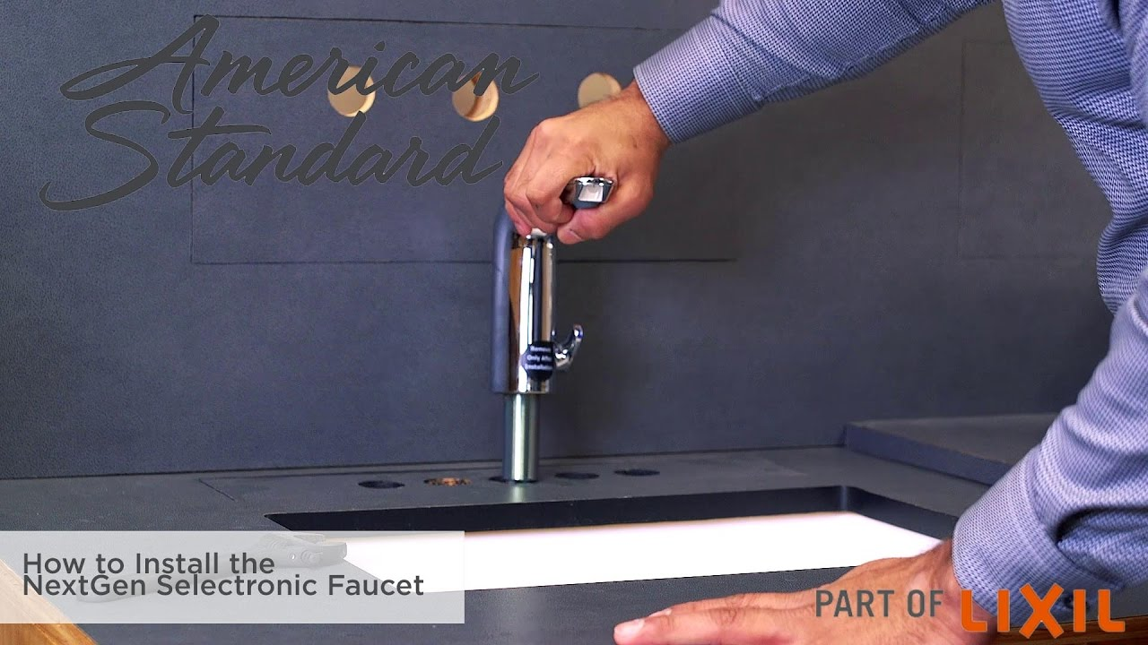 How to install the NextGen Selectronic Faucet - YouTube