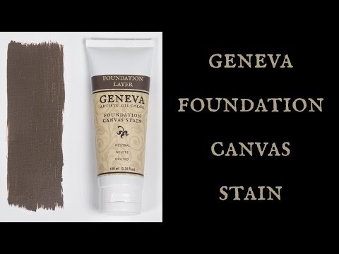 How to Use Geneva Neutral Canvas Stain - the perfect neutral foundation layer for artists' oil color