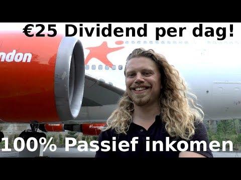 Passief inkomen uit Dividend Aandelen is ook echt PASSIEF