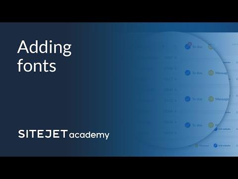 Sitejet Academy Tutorial: Fonts thumbnail