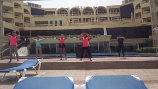 Уроки танца Зумба. Зумба для беременных. Zumba. AMC Royal Hotel. Египет. Хургада. Egypt. Hurgada.