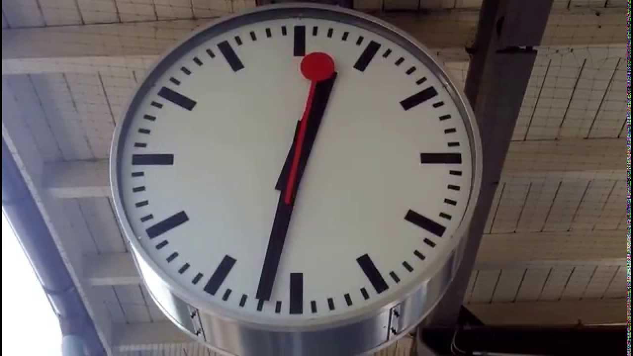 Swiss Railway Station Clock Youtube