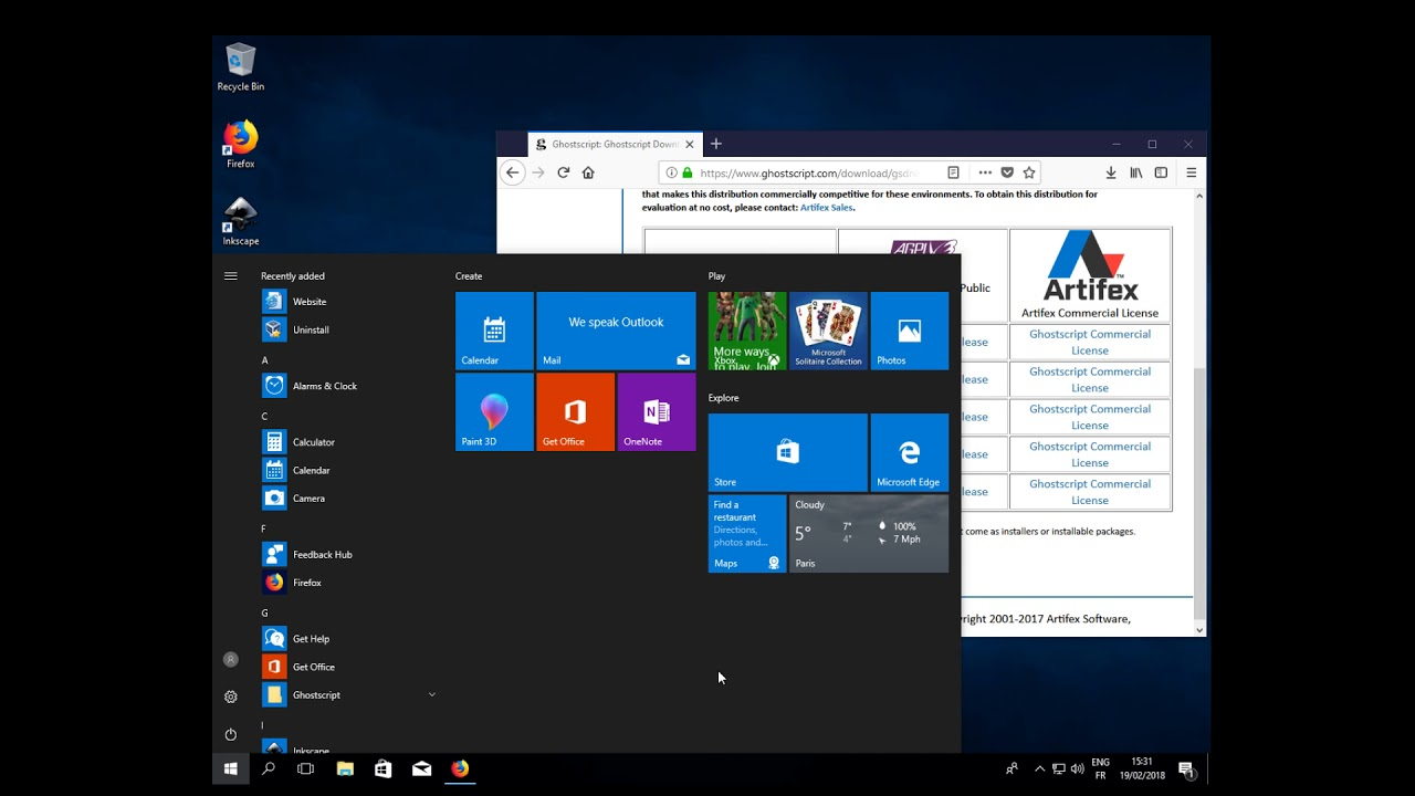 Inkscape: how to open EPS files on Windows