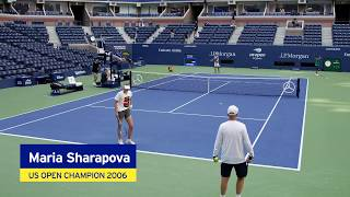 Maria Sharapova Warms Up For Her R4 Match at the 2018 US Open