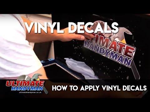 How to apply vinyl decals