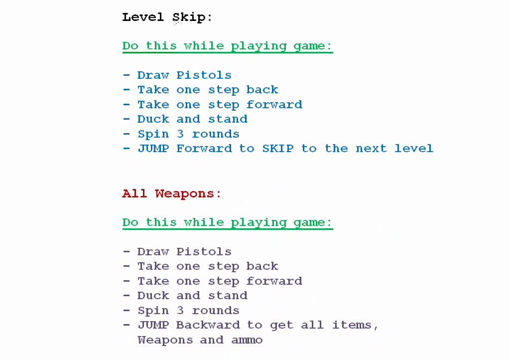 tomb raider ps1 gameshark codes