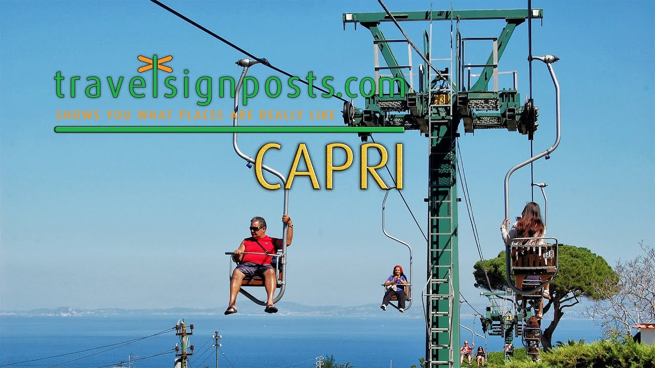 Capri Live From The Monte Solaro Chair Lift Youtube