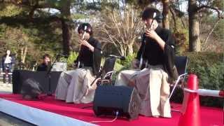 2012年1月2日 調布深大寺に隣接する神代植物公園にて津軽三味線演奏 そ...