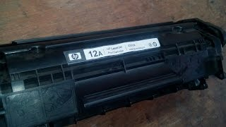 How to Refill 12A cartridge in hindi