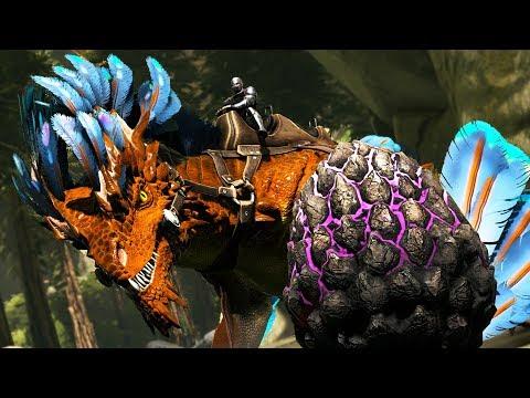 ARK: Survival Evolved - TAMING A ROCK DRAKE!! (ARK Aberration)
