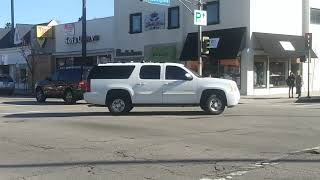LAPD Unmarked GMC Yukon Arriving on Scene