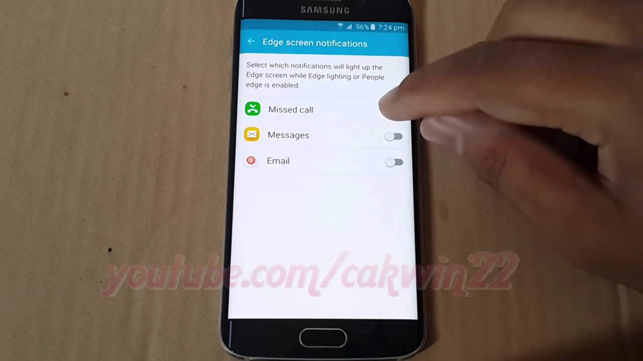 Samsung Galaxy S6 How To Enable Or Disable Missed Call Light