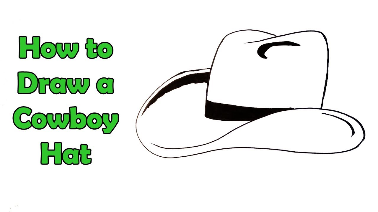 How To Draw A Cowboy Hat Very Easy For Kids Youtube