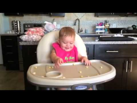 High chair giggles