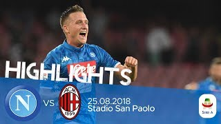 HL - Napoli V Milan 3-2