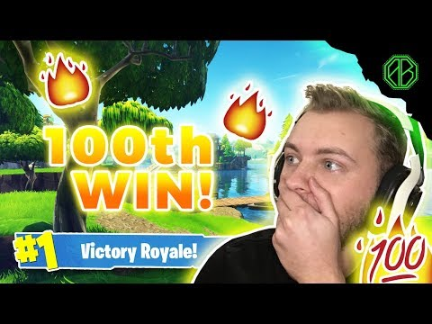 GETTING MY 100TH WIN + EPIC FAIL! (Fortnite Battle Royale)