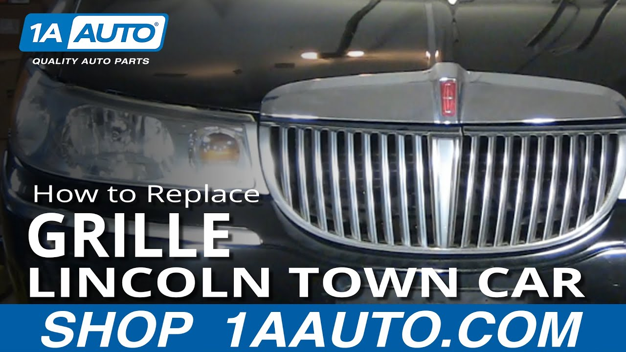How To Install Repair Replace Broken Grille Lincoln Town