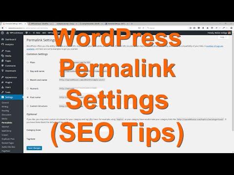 WordPress Permalink Settings + SEO Tips