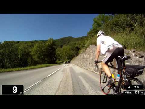Indoor Cycling Training: Col du Télégraphe (Alpen / Frankreich) - in full length!!! (Part 2/2)