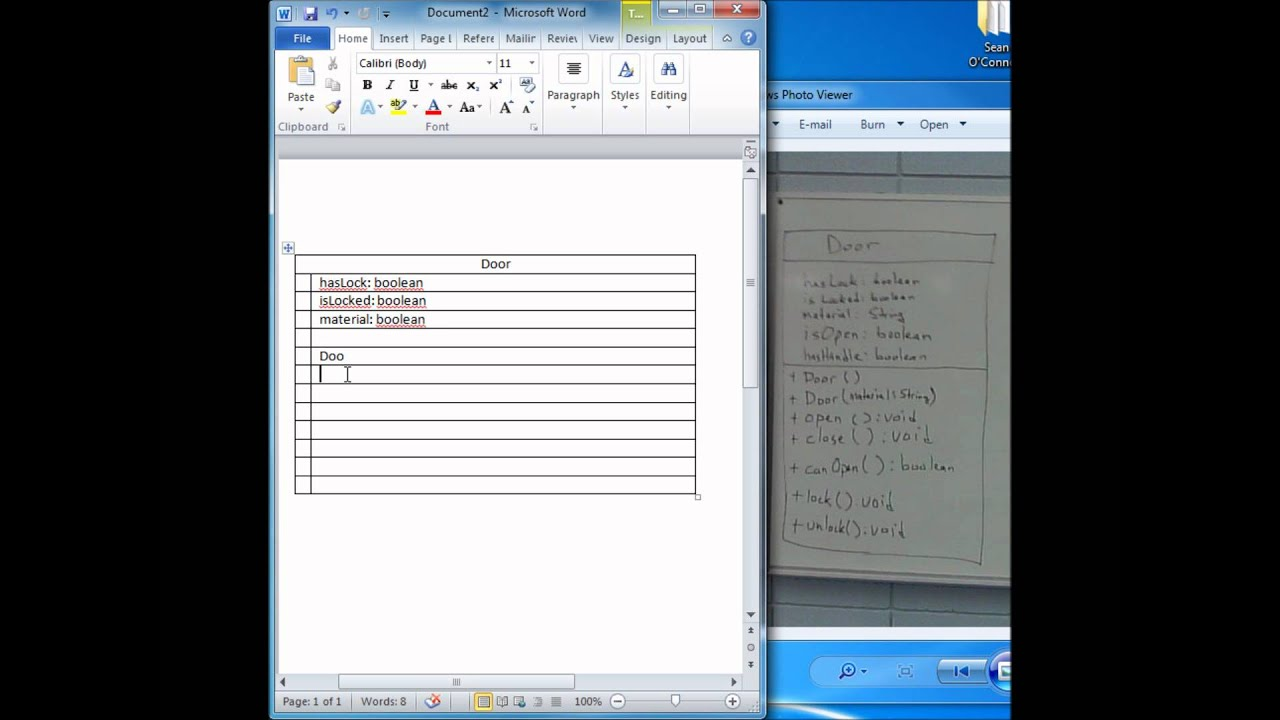 Creating a class diagram using microsoft word youtube creating a class diagram using microsoft word ccuart Images