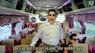 GANGNAM STYLE the ENGLISH Misheard Lyrics Version - OPEN CONDOM STORE