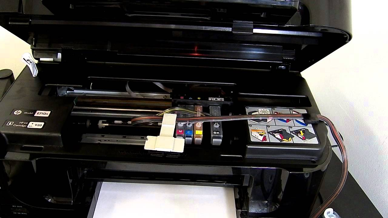 Hp Office Jet 6500 Ciss Continuous Ink System Youtube