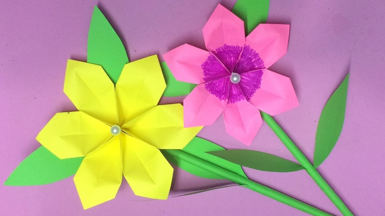How To Make Origami Flower With Paper