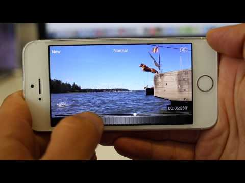 Take still image from video using iPhone or iPad. (Slow - Motion Video Player)