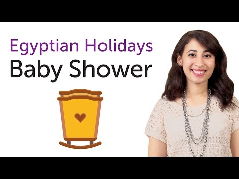Learn Egyptian Holidays in Arabic - Baby Shower