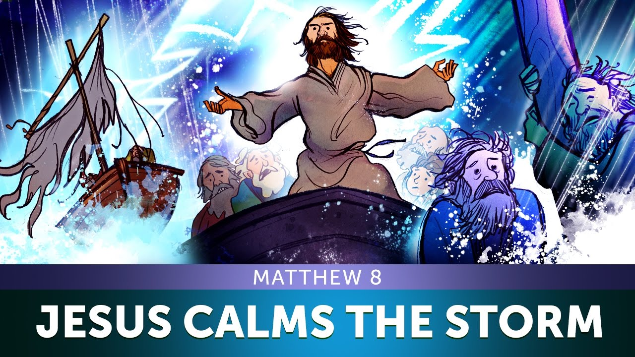 sunday lessons for kids jesus calms the storm matthew 8