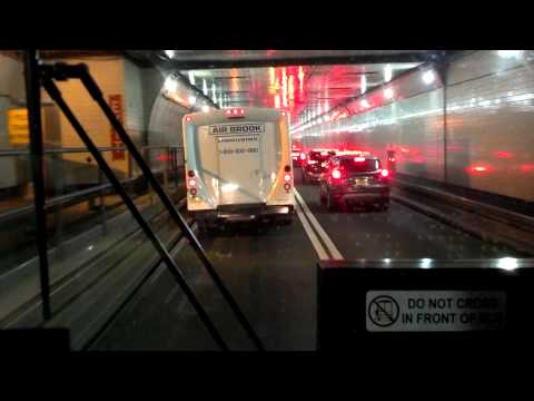 New Jersey Transit HD: Riding MCI D4000 on Route 320; North Bergen to PABT via Express Bus Lane