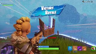 The Busy Gamer Fortnite Battle Royale Second Win on Nintendo Switch Handheld Mode