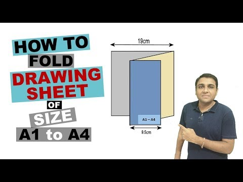 How To Fold Drawing Sheet of Size A1 to A4 I Folding Technical Drawing Sheet
