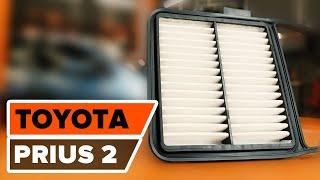 Comment changer Filtre climatisation TOYOTA PRIUS Hatchback (NHW20_) - video gratuit en ligne
