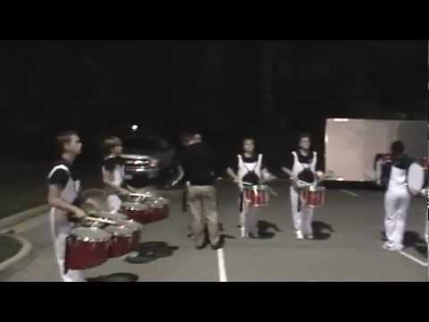 Colonial Heights High School Drumline Warmup in the Lot 2012 - Clean Beats
